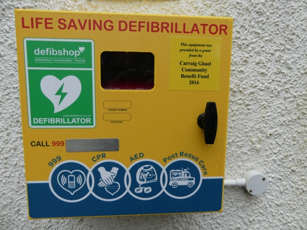 Kilchrenan Village Hall Defibrillator and Box